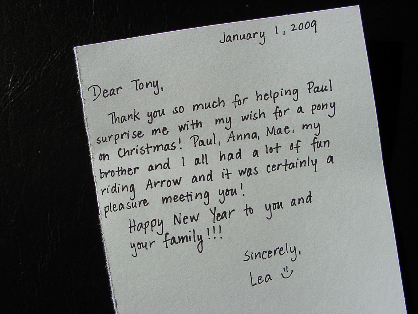 CountryTime Pony Rides - Customer Letter 3